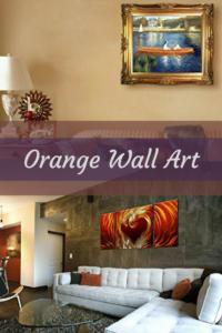 orange wall art - orange home wall art decor