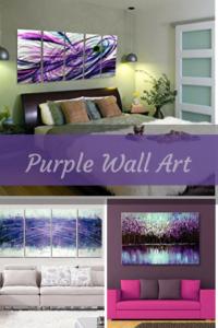 purple home wall art decor - purple wall art