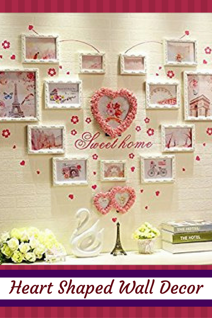 Adorable charming and unique heart shaped wall decor for Heart decorations for the home