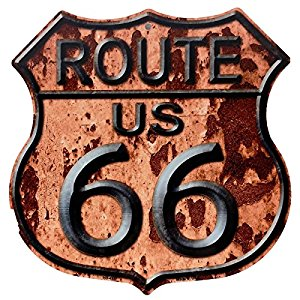 Route 55 wall art - metal wall art - home wall art decor