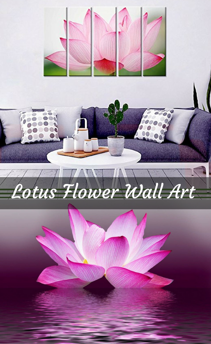 Captivating enchanting and beautiful lotus flower wall art izmirmasajfo