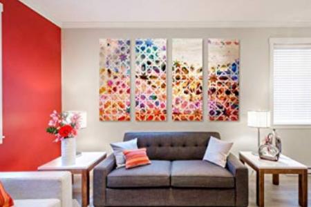 Modern colorful Abstract Geometric Wall Art