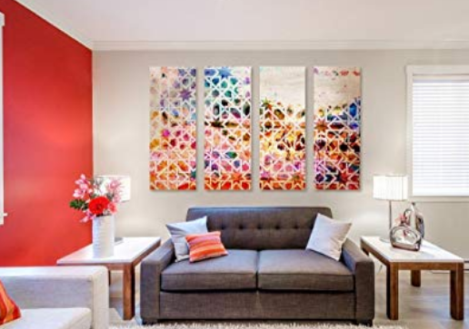 Modern colorful Abstract Geometric Wall Art
