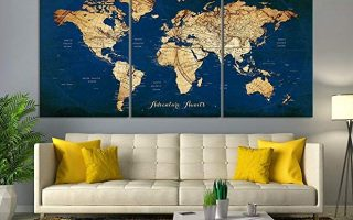 Trendy Map Wall Art - Trendy Map Wall Decor