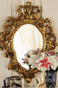 glass wall mirror with floral vase and roses - glass wall mirrors