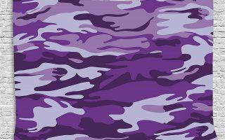 Funky Purple Camo Wall Decor