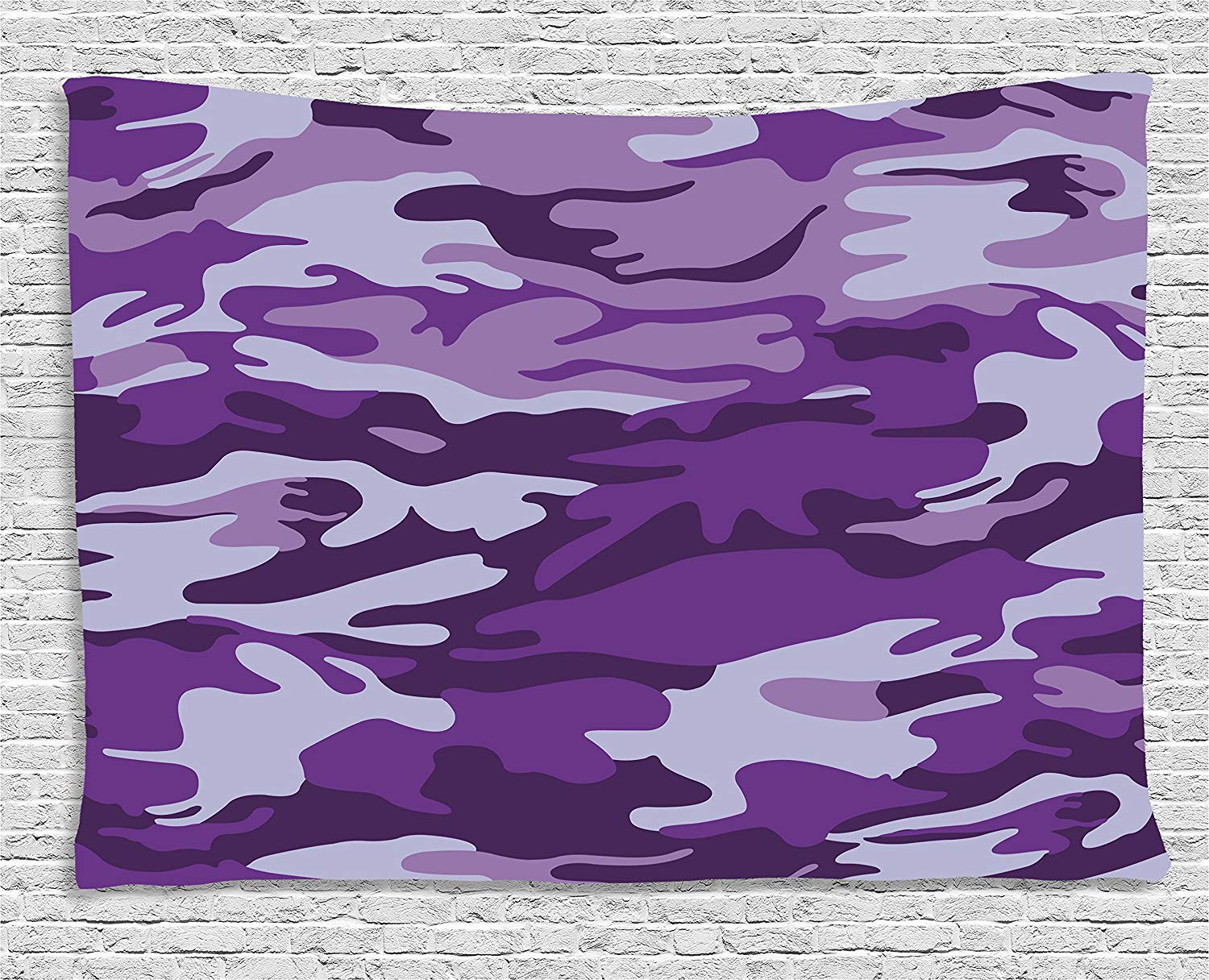Funky Purple Camo Wall Decor