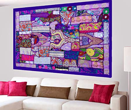 Bohemian wall decor - Patchwork Wall Decor - Bohemian Wall Art - Patchwork Wall Decor