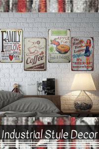 Vintage and Rustic Industrial Wall Decoration as Kitchen Wall Art. Cute Industrial wall art