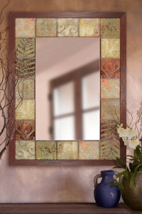 Pretty Patchwork Wall Art - Rustic Patchwork Glass Wall Mirror