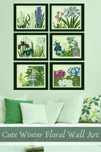 Winter Floral Wall Art - Floral Winter Wall Decor