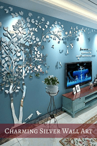 Charming silver wall art