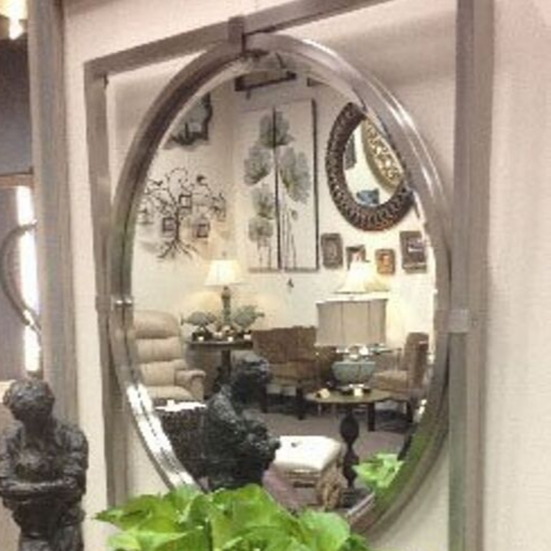 Mirrored Silver Wall Decor