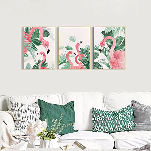 Multi-Panel Pink Flamingo Wall Decorations