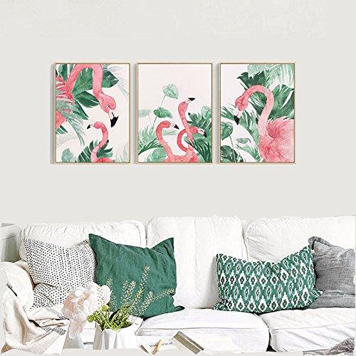Multi-Panel Pink Flamingo Wall Decorations