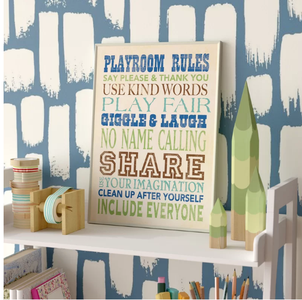 Kids Room Typography Wall Decor
