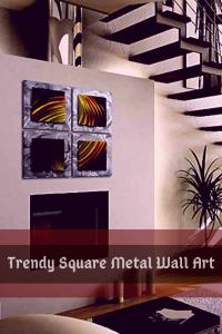 pretty modern square metal wall art - square metal wall decor