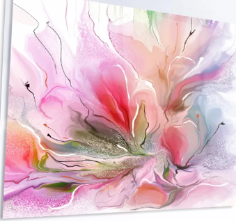 Floral LED Wall Art - Pink Floral LED Wall Art