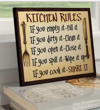 'Kitchen Rules' Framed Kitchen Textual Art