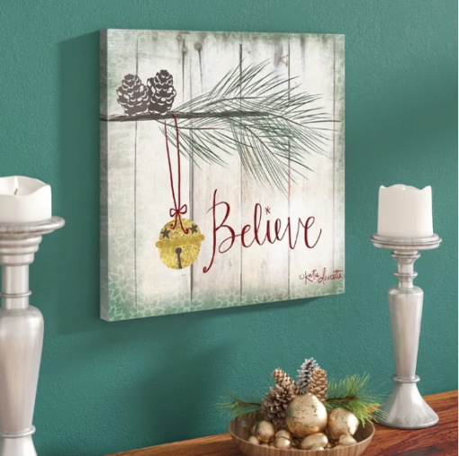 Believe Typography wall art