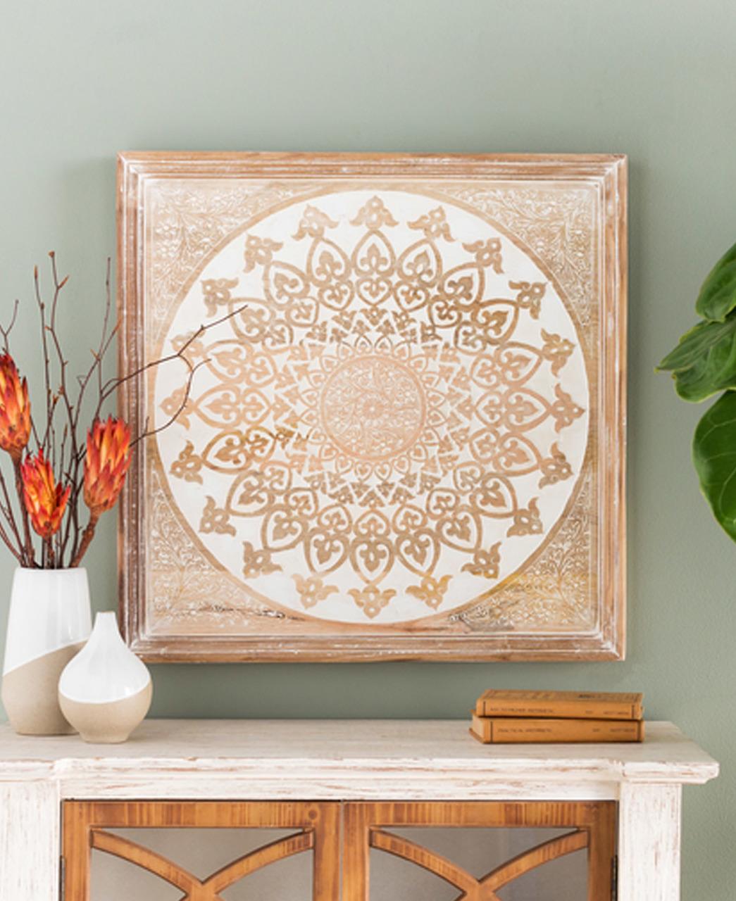 Exquisite Wooden Mandala Wall Art Buddha Wall Art Home Wall Art