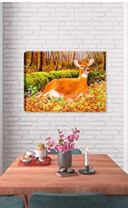Nature Deer Canvas Artwork - Deer Wall Decor
