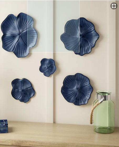 Ceramic Floral Wall Decor Set