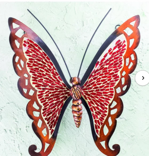 Mosaic wall decor - butterfly wall art -