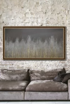 Silver Forest Nature Wall Art Decor