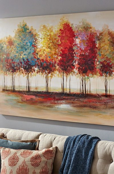 Trees wall art - Pretty Fall Wall Decor