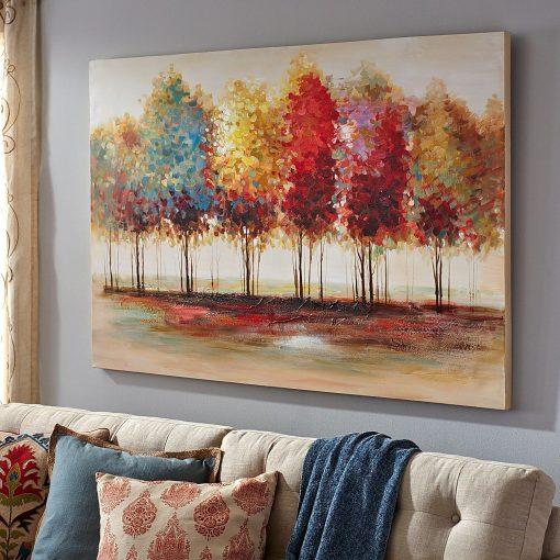 Trees wall art - Pretty Fall Wall Decor