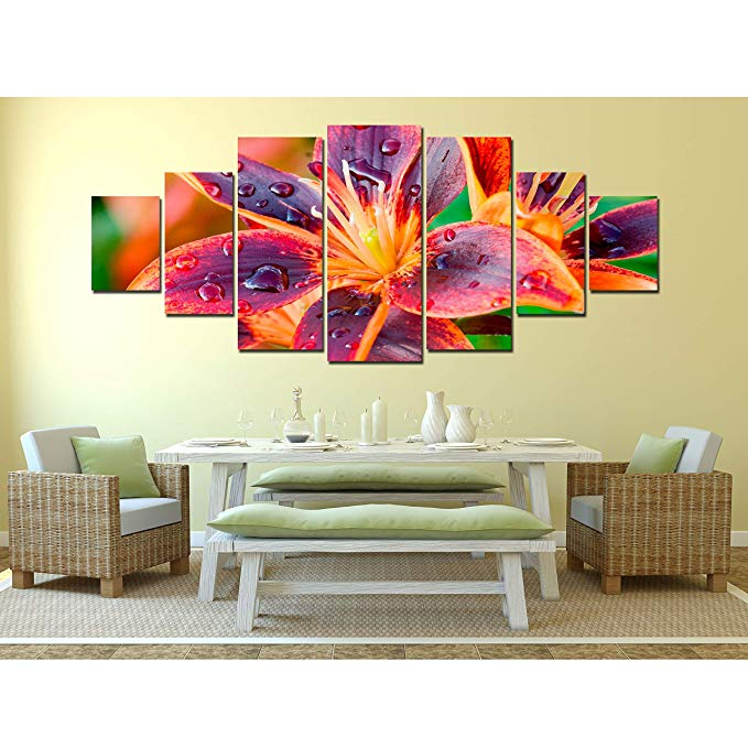 Pretty floral wall decor - trendy flower wall art