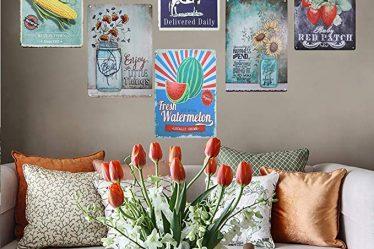 Elegant Charming Metal Floral Wall Decor