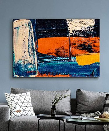 Burnt orange wall decor