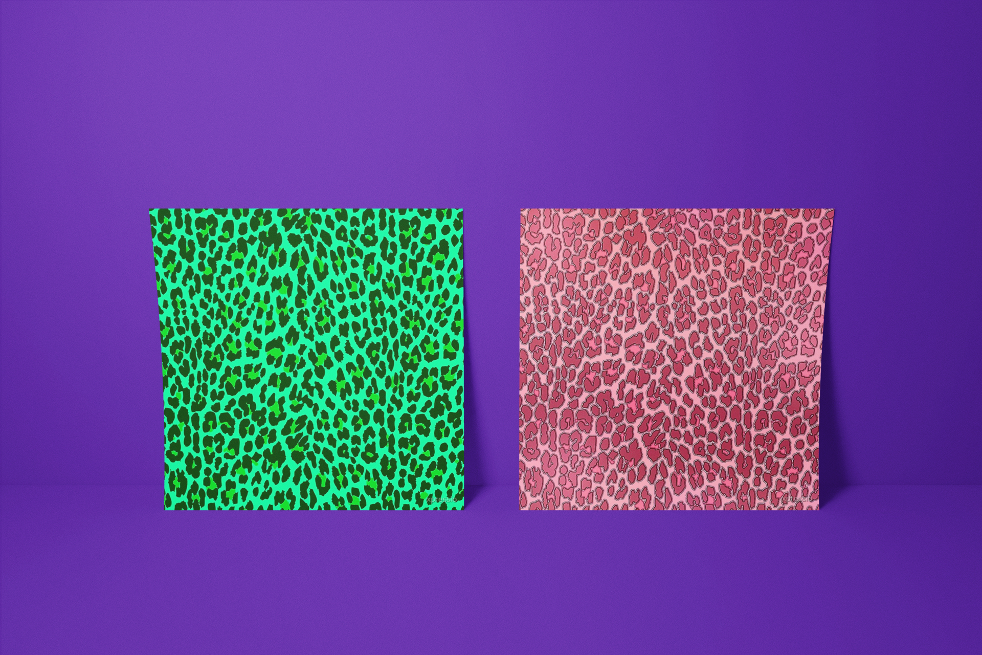 Funky Exotic Animal Print Wall Art