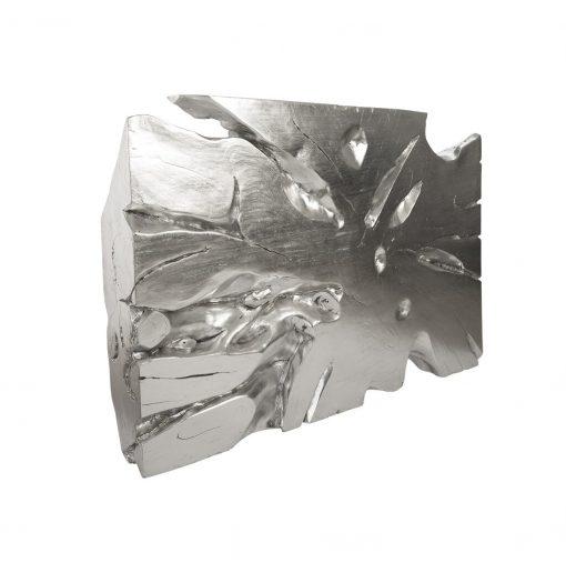 Freeform Abstract Wall Decor - Metallic Silver Wall Art