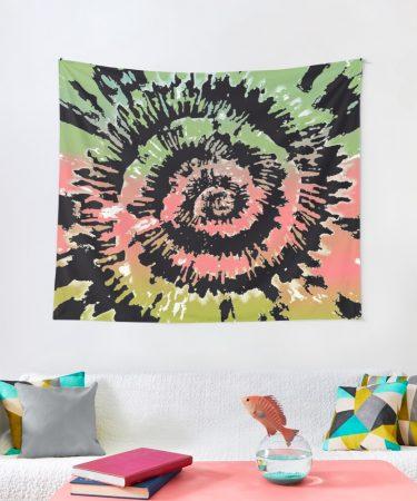 Trendy Tie-Dye Wall Decorations by Pamela Arsena