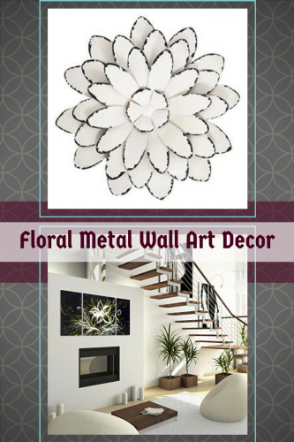 Floral Metal Home Wall Art Decor