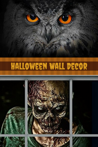 Halloween Wall Decor - unique halloween home decor - halloween home wall art decor