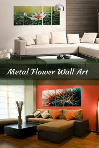 Metal flower home wall art decor - metal floral wall art