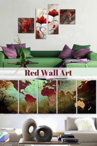 Red Wall Art - Red Home Wall Art Decor