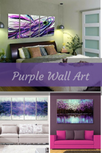 purple home wall art decor - purple wall art